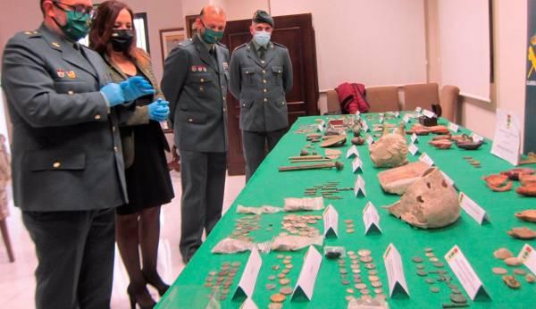 Recuperadas 1.400 piezas arqueológicas y detenida una persona