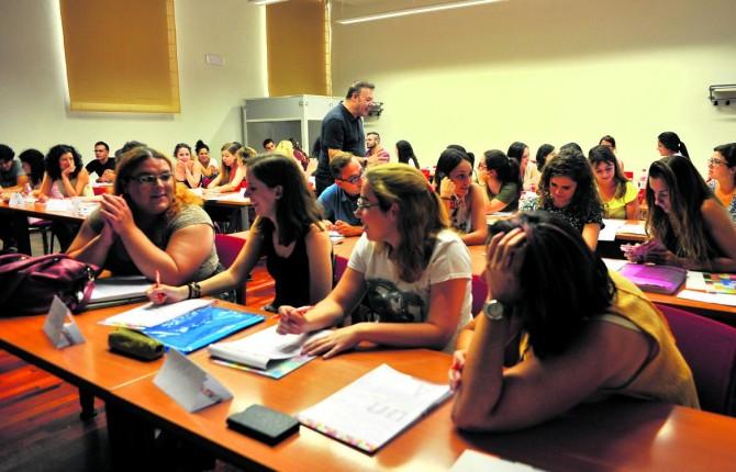 Alumnado en una de las acciones formativas del Campus Antonio Machado Emilio Arroyo