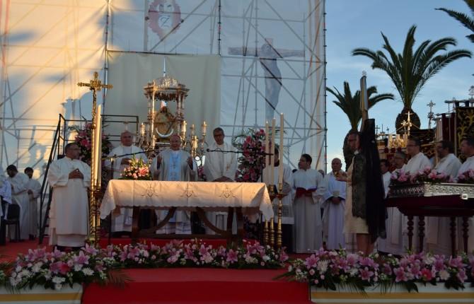 EUCARISTÍA. El obispo de Jaén preside la misa en honor a Nuestra Señora de Zocueca.