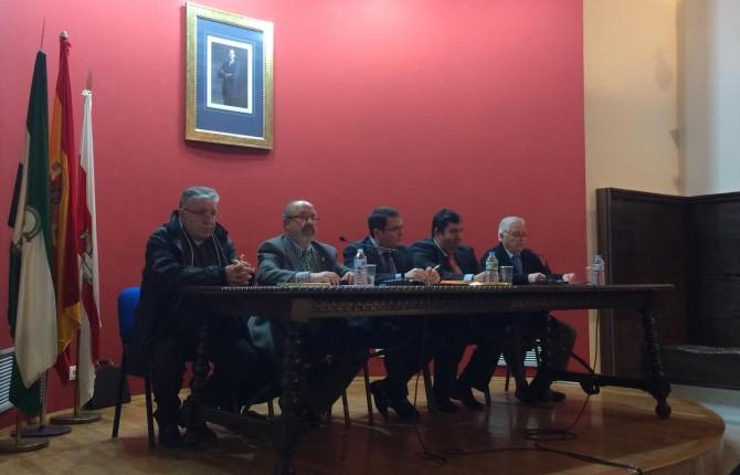 CHARLA. Domingo Conesa, Enrique Gómez, Pedro Luis Rodríguez, Guillermo Cervera y Francisco Fuertes.