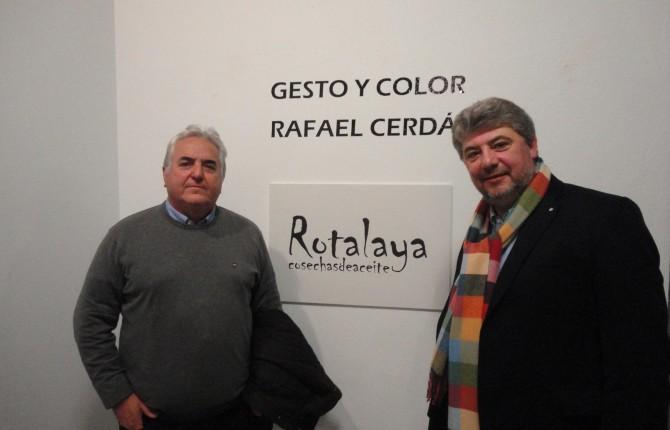 IARTE. Rafael Cerdá y Francisco José Bejarano, en el Museo Zabaleta.