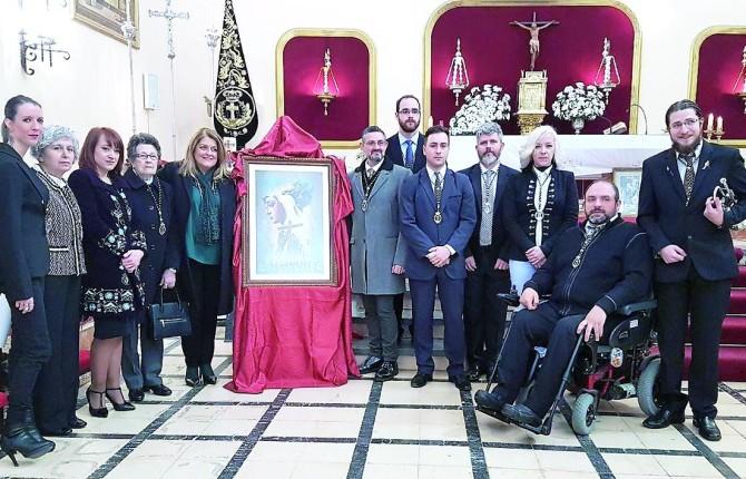 TRADICIÓN. Junta de Gobierno de la Hermandad del Descendimiento, en la eucaristía de apertura de actos.
