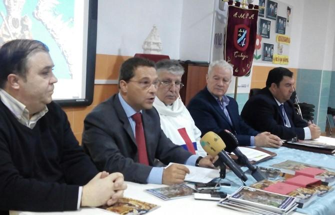 PREPARATIVOS. Alfredo Ybarra, Francisco Huertas, Domingo Conesa, Ramón Colodrero y Guillermo Cervera.