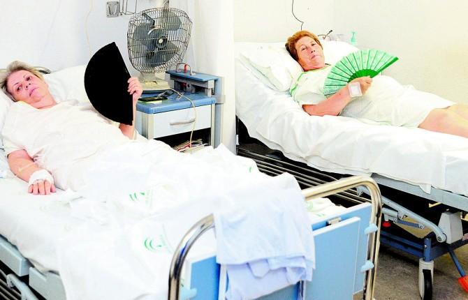 Tensi n en el hospital por la falta de aire acondicionado for Cuarto quirurgico